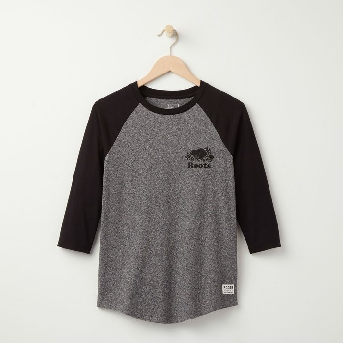 ~☆.•°莎莎~*~~☆~加拿大 ROOTS NEW EVE BASEBALL T-SHIRT 棉T