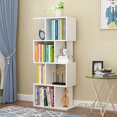 書架置物架簡易學生收納落地小書櫃簡約現...