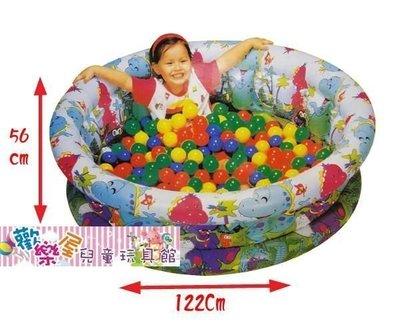*歡樂屋*.....//直徑122高56cm加大款充氣兩用大型游泳池/遊戲池//.....送100粒彩色球