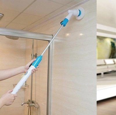無線充電式電動清洗機 不彎腰清潔刷自動旋轉拖把 長柄伸縮防水