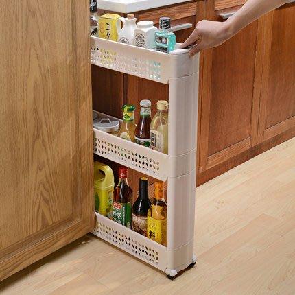 置物架縫隙收納架 三層夾縫置物架廚房衛生間浴室冰箱可移動間縫整理儲物層架(兩層)[熱銷現貨_找好物FindGoods]