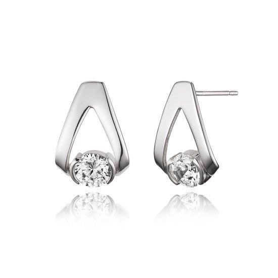 【韓Lin連線代購】韓國 HAESOO.L 海秀兒 - YU3562 925銀 鑲鑽典雅風耳環