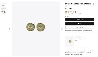 【全新正貨私家珍藏】TORY BURCH ROXANNE CIRCLE-STUD EARRING 新色耳環