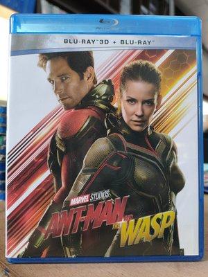 挖寶二手片-0452--正版藍光BD【蟻人與黃蜂女 3D+2D雙碟版】-熱門電影 MARVEL(直購價)