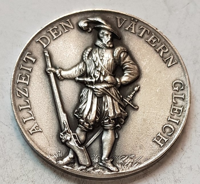 瑞士銀章 1896 Jubilaeumsschiessen Aarau Silver Medal.