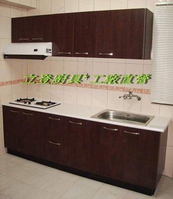 立登廚具~[一字型系統廚櫃]*美耐板檯面*V313門板*[含兩機]*工廠直營*