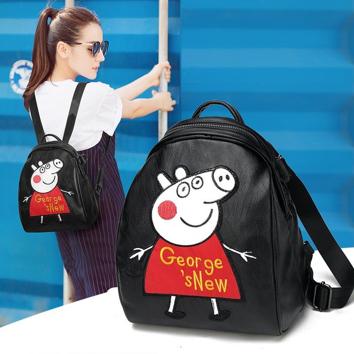 背包 後背包 小豬佩奇 雙肩包 【FQ包包】