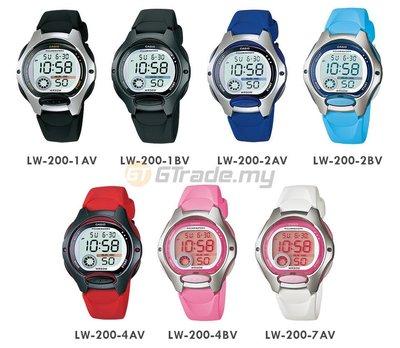 CASIO手錶10年電力兒童數字錶LW-200 全新CASIO公司貨附發票~ 淺藍色 停產