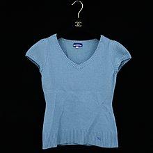 1元起標無底價【2/28(日)結標】【BURBERRY BLUE LABEL】戰馬 毛料 針織衫 38 藍 女