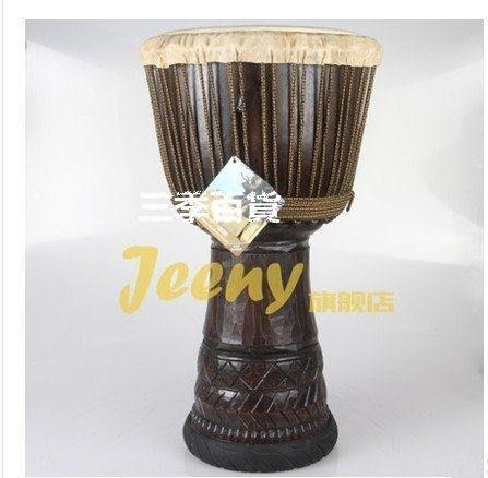 三季jeeny非洲鼓 非洲小鼓 12寸手鼓 |整木掏空雕刻系❖538