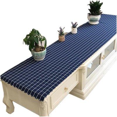 北歐格子電視櫃桌布長方形客廳茶幾墊子布鞋櫃臺布床頭櫃蓋布