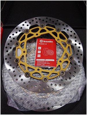 【貝爾摩托車精品店】BREMBO 碟盤 HP HPK 320MM 競技 浮動碟 T MAX MT09 金色內盤