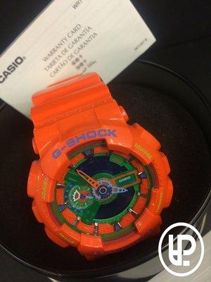 PALACE 美牌專賣 CASIO G-SHOCK GA-110A-4ADR HYPER COLORS 橘色 樂高 指針