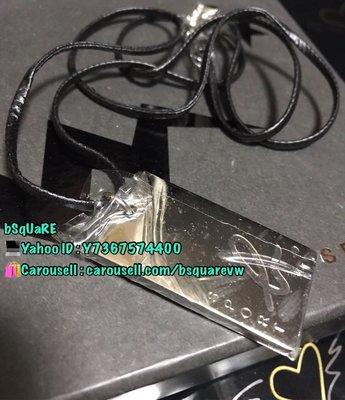(最後1條) 絕版 AGNES B SPORT B 銀色 平哨子 頸繩 皮繩 (保証正貨及全新) 哨子不會響