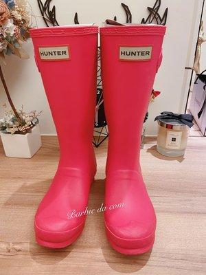 Hunter 小童 桃紅 雨鞋 正品