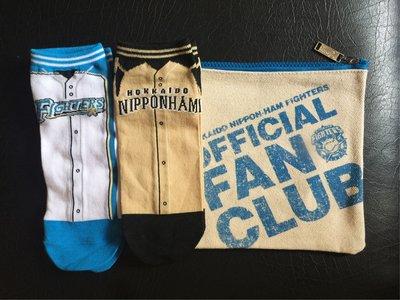 日本職棒 北海道火腿鬥士隊 王柏融 超值情侶襪套組(2襪+包)