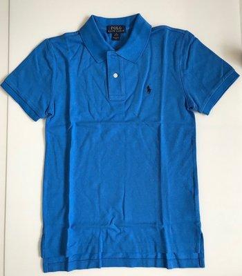 全新 Ralph Lauren 藍色小馬POLO衫、 SIZE:M