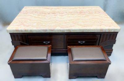 全新庫存家具賣場 JZ1119iE*全新胡桃大理石茶几* 仿古組椅 家具 沙發椅 實木庫存家具批發 零碼家具拍賣