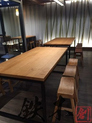 【鐵木創】松木桌 實木桌 營業用 厚實松木 訂製  客製 餐桌 耐刮  餐桌 營業用 桌椅 餐桌椅組 P3 台中市