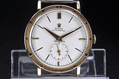 超稀有!收藏級!ROLEX 勞力士 Oyster Perpetual Ref.4325 正14k 手上錬 古董錶