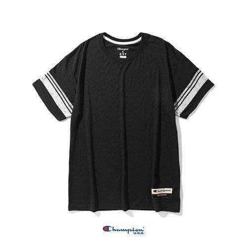 Champion AO300 復古混紡條紋 /  黑色