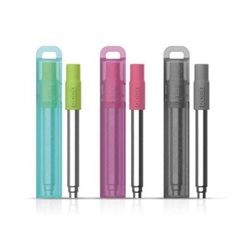 【東京速購】日本代購 ZOKU 不鏽鋼 伸縮吸管 環保吸管 附收納盒 清潔刷 (三色)