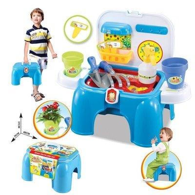 雄城正品園藝工具納椅 沙灘玩沙玩具 兩用收納椅-現貨