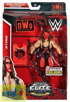 ☆阿Su倉庫☆WWE摔角 Sting NWO Wolfpac Exclusive Figure 傳奇巨星限定精華版人偶