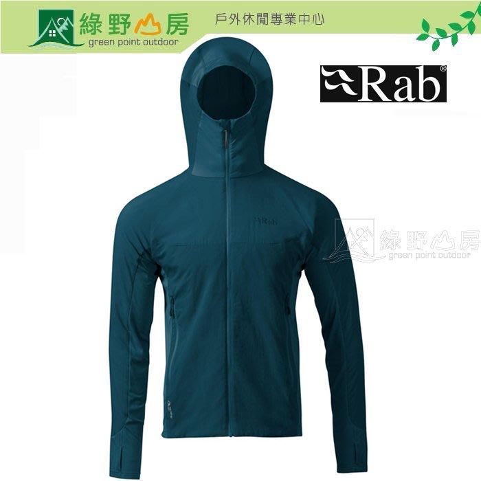 綠野山房》RAB 英國 男 Alpha Flux 彈性保暖外套 刷毛外套 登山運動夾克 攀岩 墨藍 QIO-37-IK
