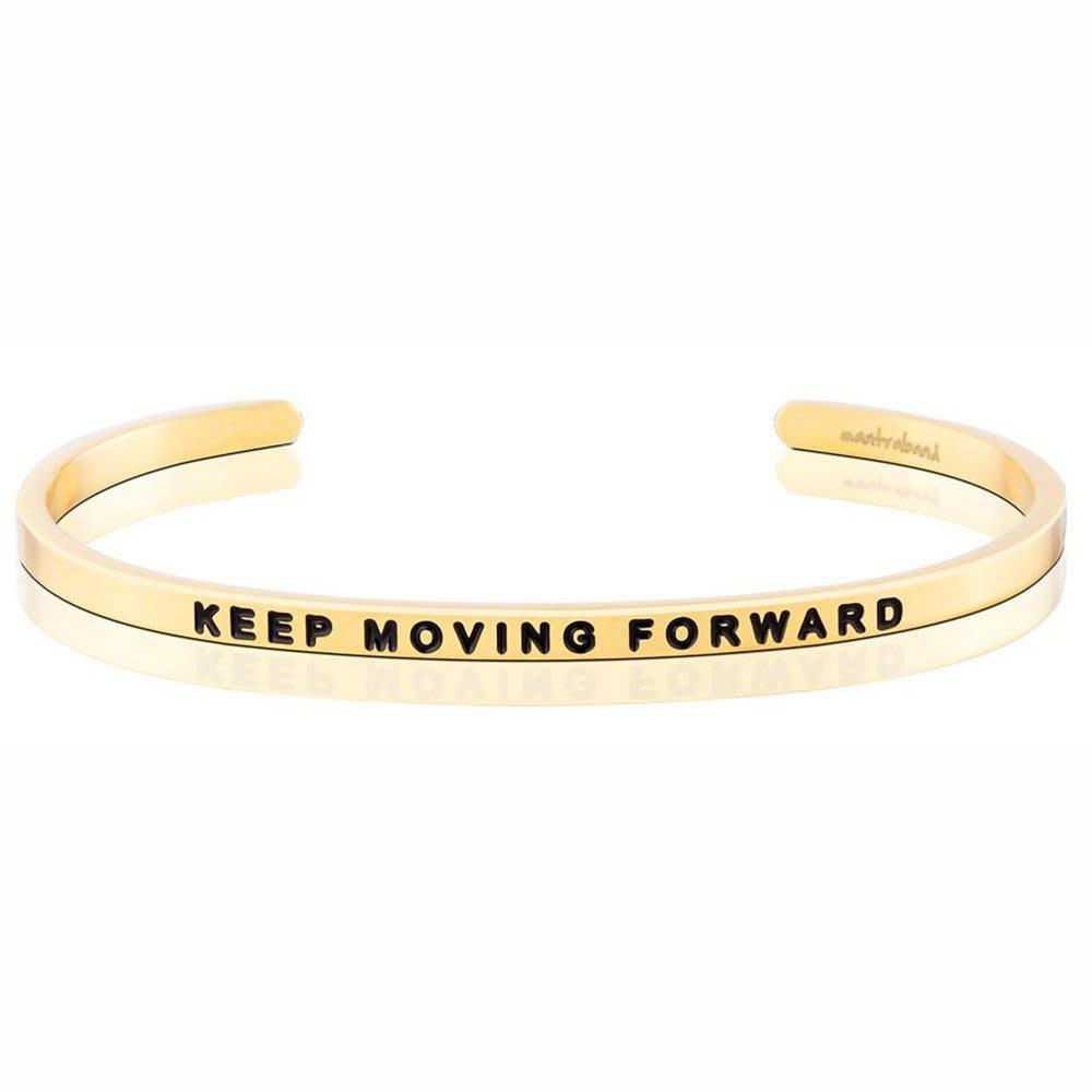 MANTRABAND 台北ShopSmart直營店 Keep Moving Forward 繼續往前邁進 金色手環