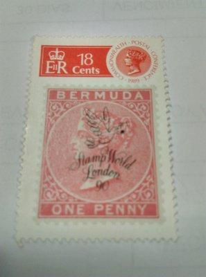 百慕達紀念1989年大英國協郵政會議郵票