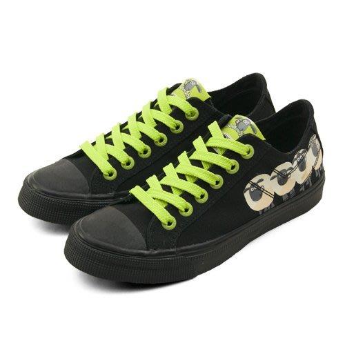 利卡夢鞋園–PONY經典時尚帆布鞋--SHOOTER 笑笑羊系列--黑綠--51U1SH61BK--女