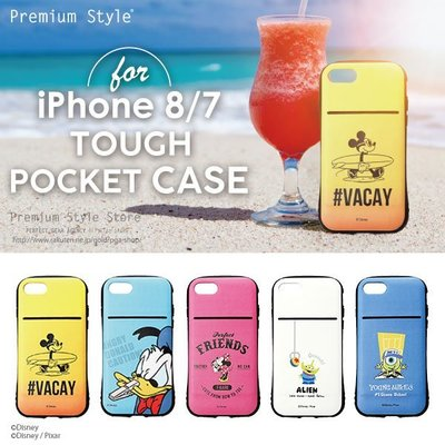 尼德斯Nydus 日本正版 迪士尼 米妮 三眼怪 米奇 手機殼 款殼 可插卡片 4.7吋 iPhone8/7 軍規防護