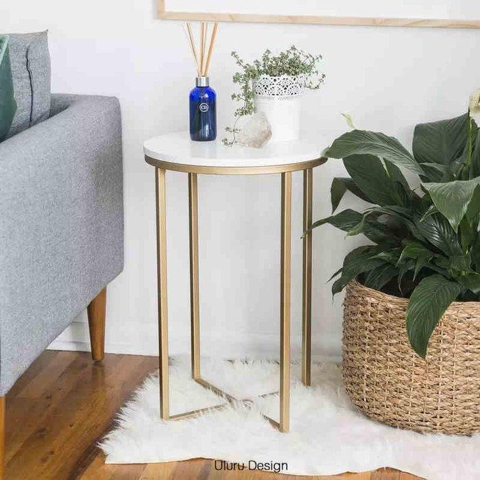 【Uluru】北歐風格 大理石邊几 沙發邊几 側邊桌 床頭桌 沙發邊桌 置物桌 展示桌 設計師款