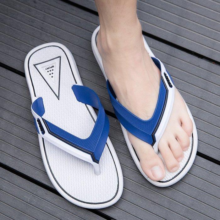 6Du spot~潮牌2020夏新款人字拖男鞋時尚百搭男士室外個性沙灘鞋外穿涼拖鞋