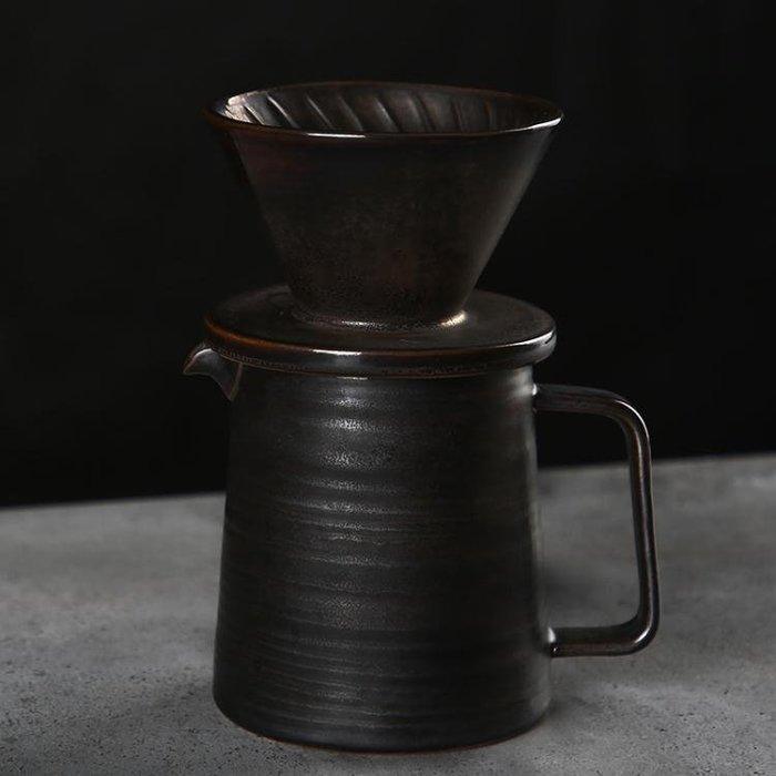 【暖暖居家】Palazzo咖啡濾杯 手沖咖啡壺套裝 陶瓷濾杯 V型過濾器 復古滴濾杯-免運費