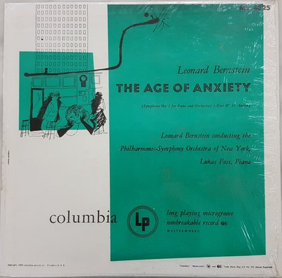 古典黑膠 Leonard Bernstein Age of Anxiety Columbia Andy Warhol