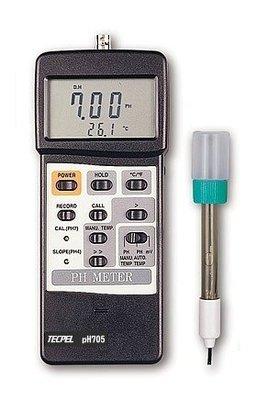 TECPEL 泰菱 》PH-705 酸鹼度計 酸鹼計 PH計 水質檢測 電極 RS232 PH705