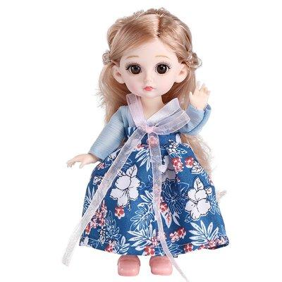 新風小鋪-兒童玩具小女孩公主遙藍芭比古裝漢服娃娃套裝單個仿真洋娃娃禮物