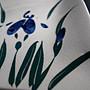 開片冰裂燒製菖蒲圖繪大、小方皿盤組,狀態如新,典雅、優美