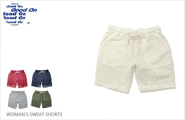 WaShiDa【GOPT1054P】Good On 日本品牌 女裝 SHORTS 重磅 色落 顏料染 休閒 棉 短褲