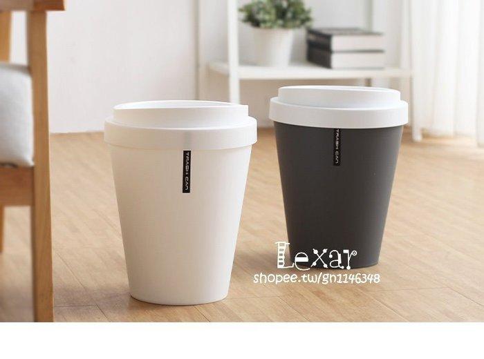 創意歐式大號翻蓋垃圾桶簡約時尚可愛客廳衛生間有蓋小號圓筒紙簍