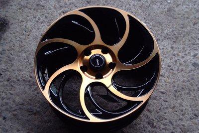 全新ADV-45 17吋5/ 114.3黑底古銅面鋁圈