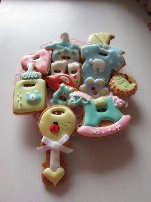 (專辦急件)客製彩繪糖霜餅乾/收涎餅乾/收口水餅乾/婚禮小物。