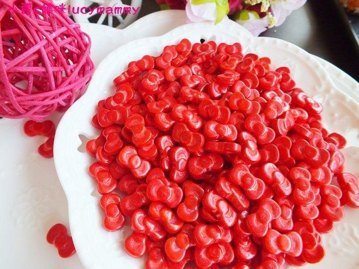 小露c媽咪 加拿大3LSprinkles 食用糖珠LM0016 50g 紅色蝴蝶結糖片/食用糖珠/裝飾糖珠/彩色糖珠