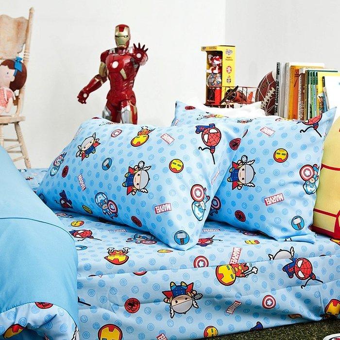 床包 / 雙人【復仇者聯盟-超萌英雄】雙人床包含兩枕套,全新卡通磨毛多工法處理,戀家小舖,台灣製-ABF201