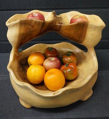 幸福家傢俱 水果架-原木 雕刻擺件 裝飾果盤 水果架