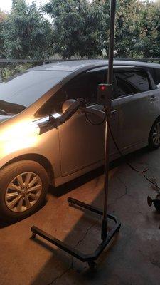 快速IR 紅外線燈管组+支架 IR  汽車烤漆  汽車美容 快速燈管可訂製0919011340加熱燈 可移動