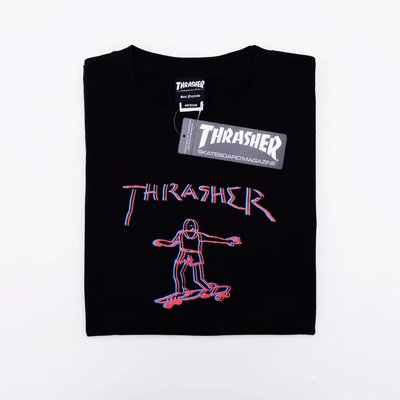 【P+C】日本限定 Thrasher Skateboard Tee 滑板 短T 黑色 白色