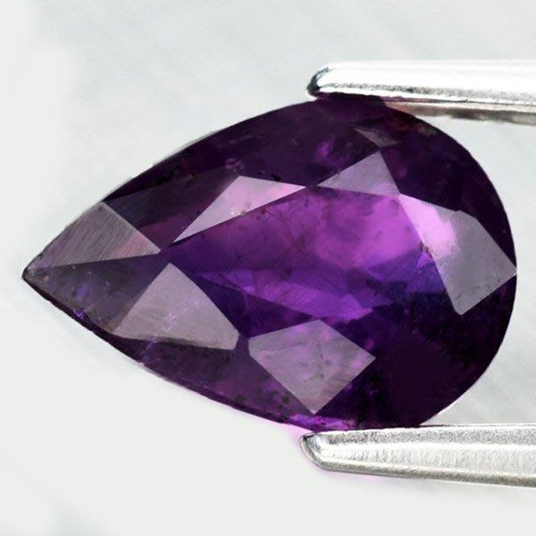 (((品瑄珠寶))) 1.07克拉 稀有無燒紫色藍寶石 坦桑尼亞加產地 淨度極佳 火光超強 附台灣聯合鑑定所證書